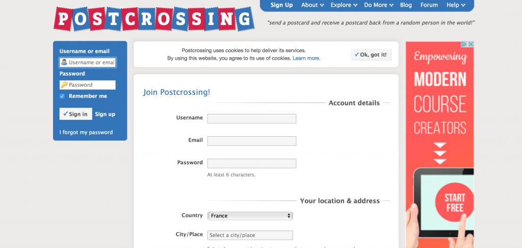 postcrossing-s-inscrire