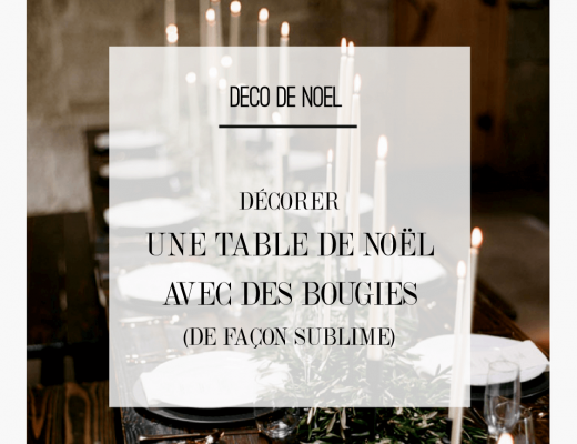 Idée déco pour une table de noel naturelle et originale avec des bougies