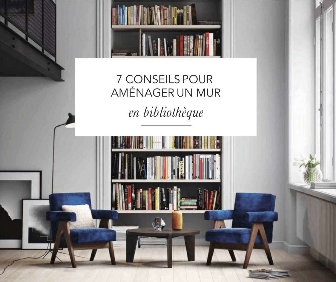 7 conseils pour am nager un mur en biblioth que le blog d co de l 39 atelier maison allaert. Black Bedroom Furniture Sets. Home Design Ideas