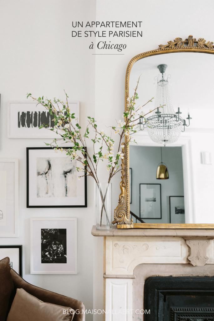 Amenagement Alcove Chambre : Un appartement parisien à chicago le déco de l