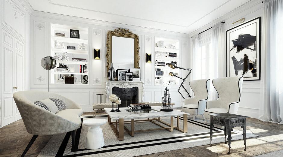 Une vraie leçon de style avec la décoration de cet appartement bourgeois, à la fois baroque et très moderne. Retrouvez toutes les photos de cet incroyable intérieur dans l'article.