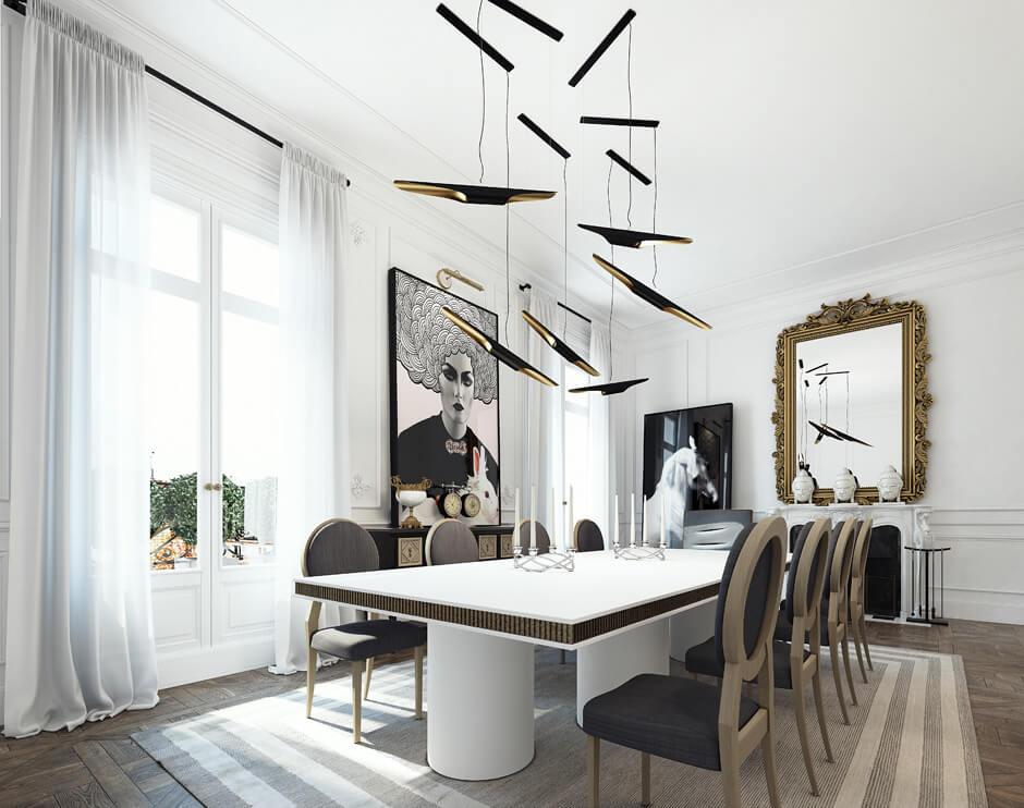 Jolie leçon de style avec la décoration de ce salon bourgeois contemporain. Retrouvez plus de photos de cet intérieur élégant dans l'article.