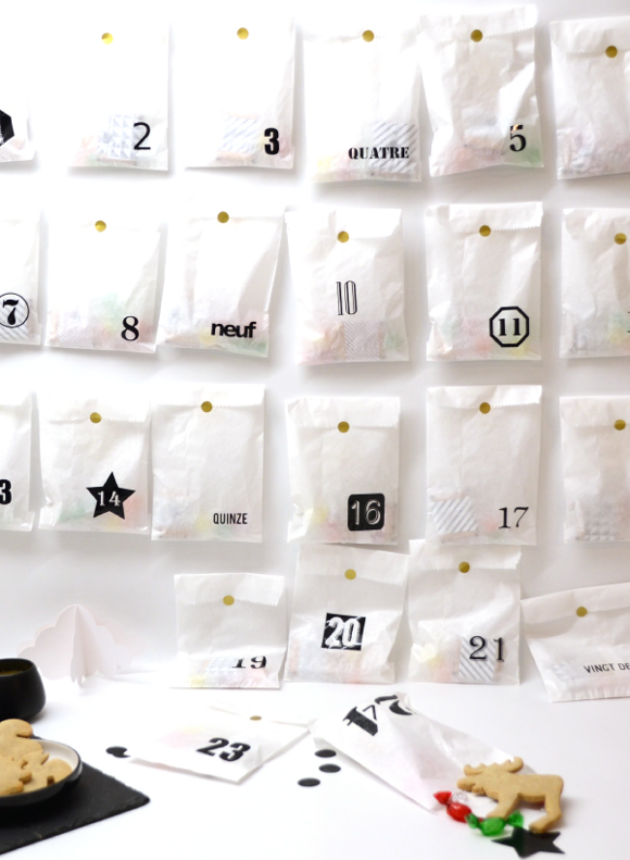 Fabriquez facilement un calendrier de l'avent avec des pochettes en papier