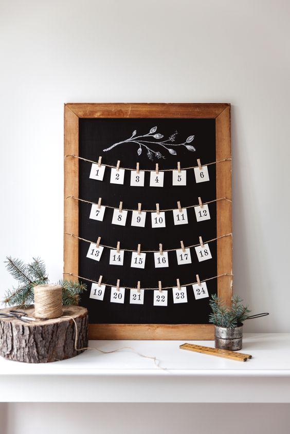 Fabriquez un calendrier de l'avent tout simple