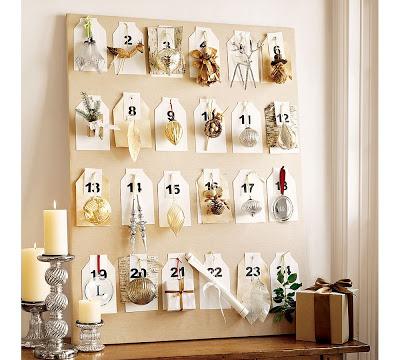 Un calendrier de l'avent pour créer un esprit de Noel dans votre décoration