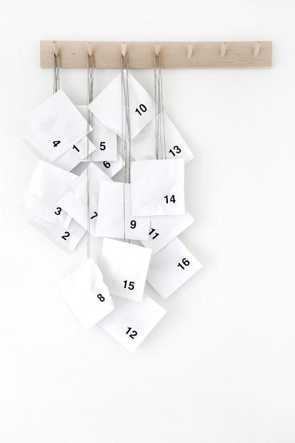 Un calendrier de l'avent fait maison et ultra simple pour tous les bricoleurs pressés