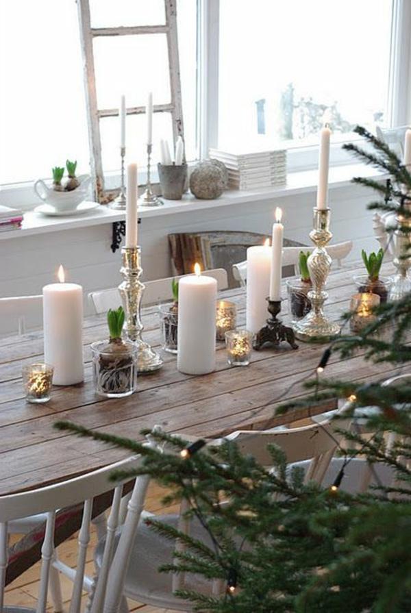 Utiliser des bougies pour la décoration de sa table de noel