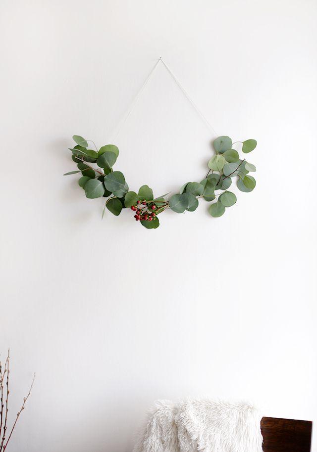 Comment fabriquer soi-même une couronne de Noel végétale