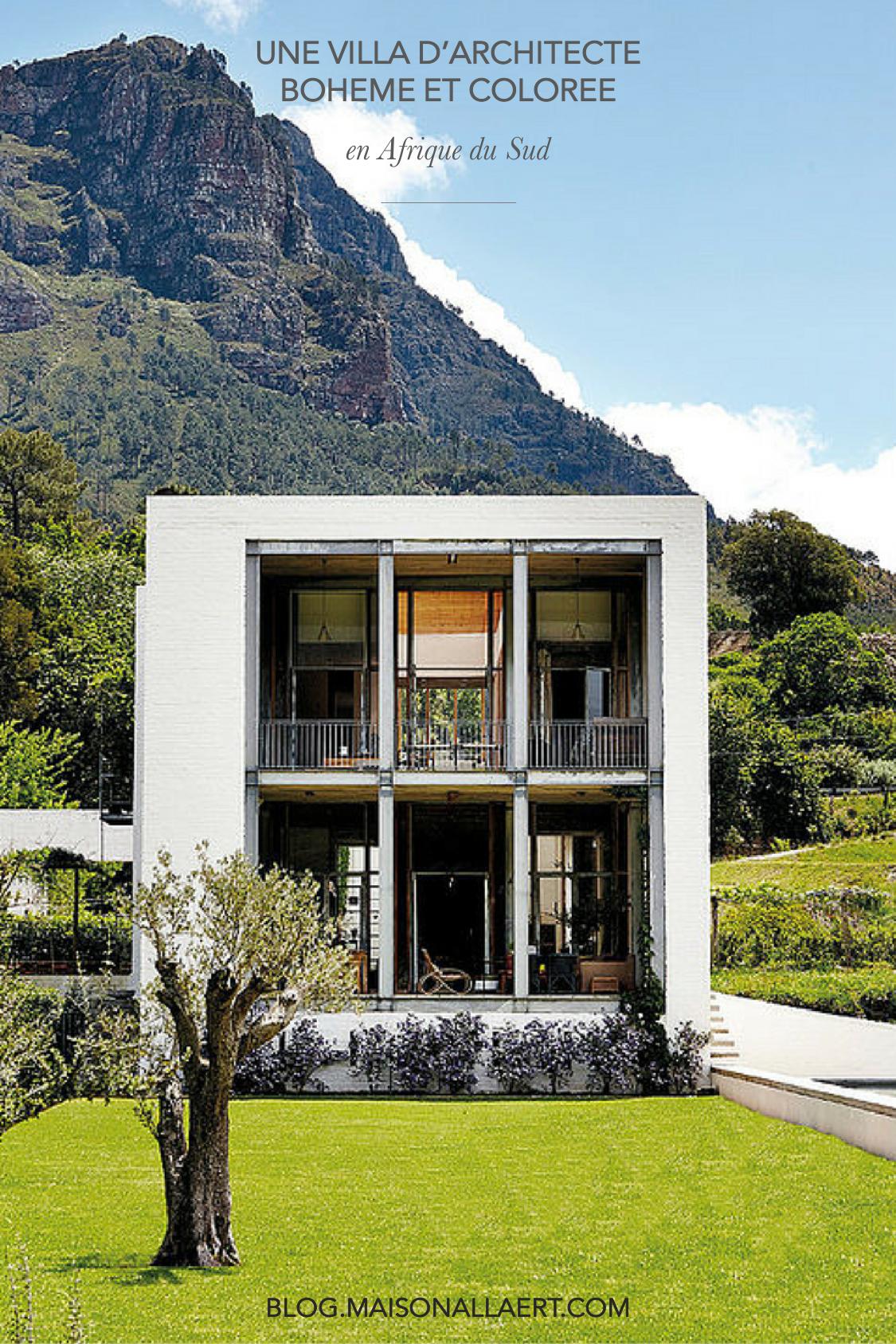 Découvrez toutes les photos de cette villa d'architecte, bohème et colorée