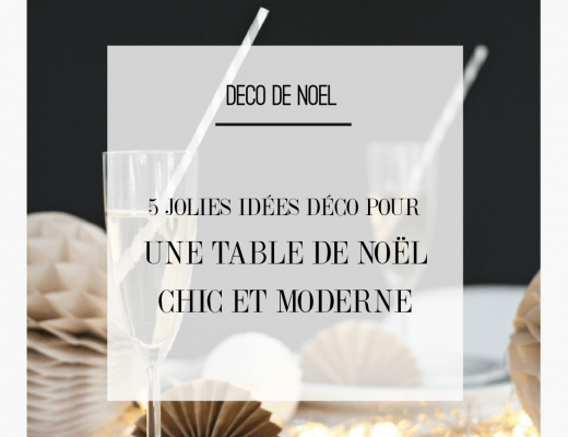 Découvrez 5 idées déco pour une table de Noël chic et moderne