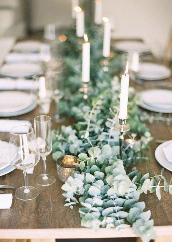 Envie d'une décoration de table de Noel naturelle ? Pensez à l'eucalyptus !
