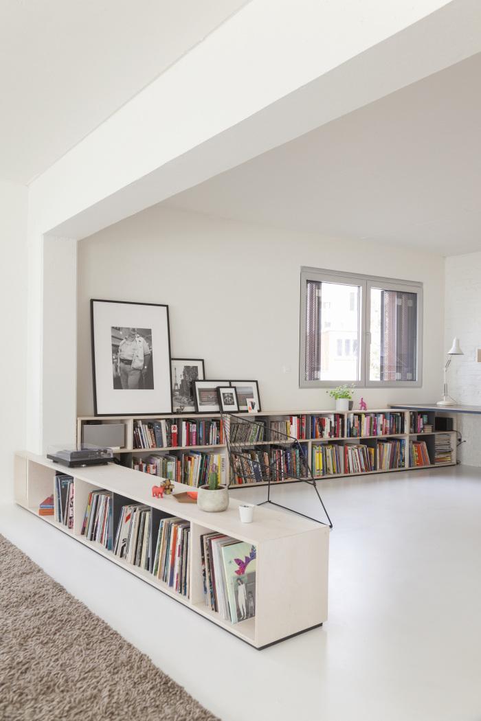 Utiliser une bibliothèque pour séparer l'espace dans une pièce