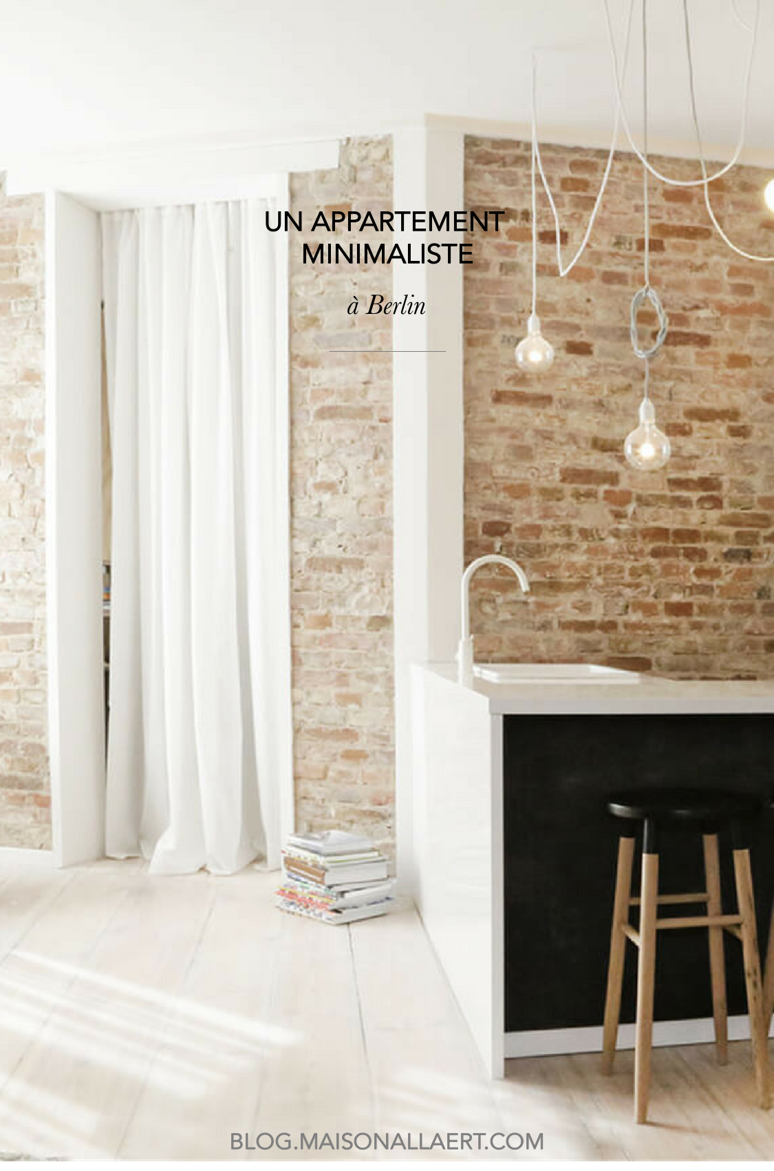 Un appartement minimaliste et chic berlin maison for Appartement minimaliste