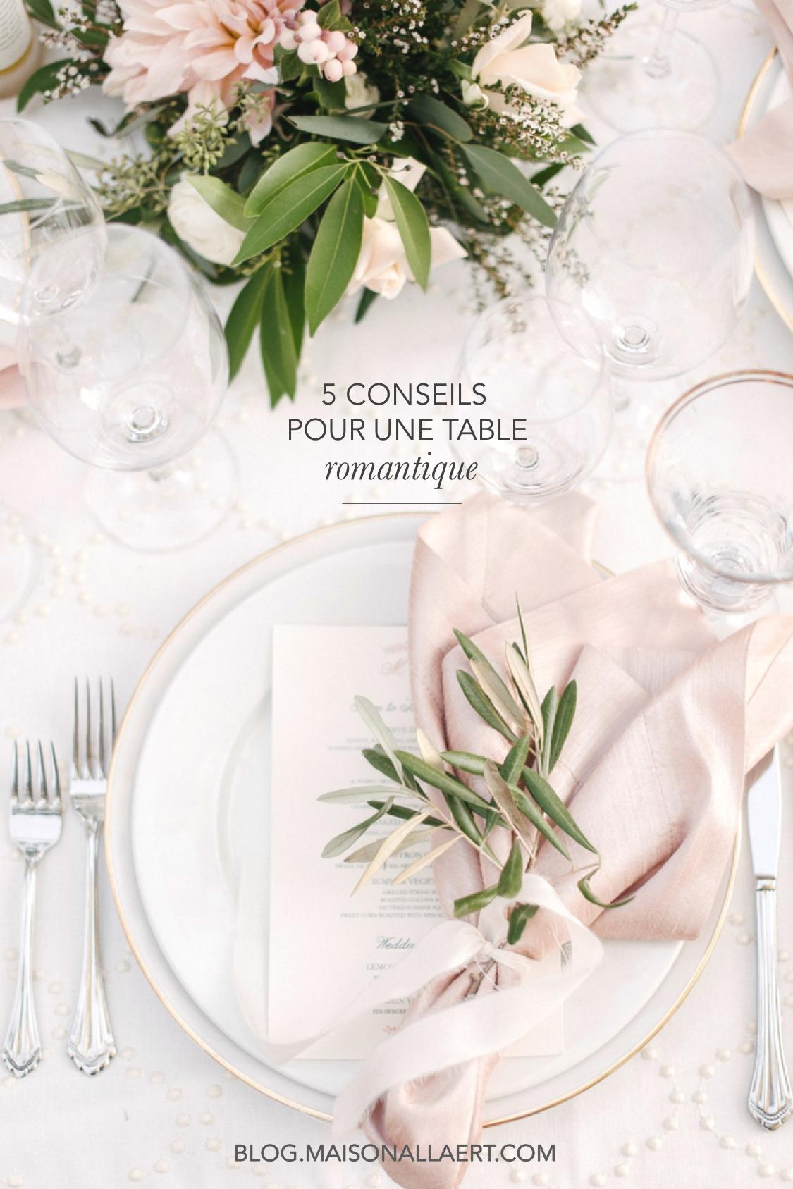 5 idées déco pour réaliser une table romantique