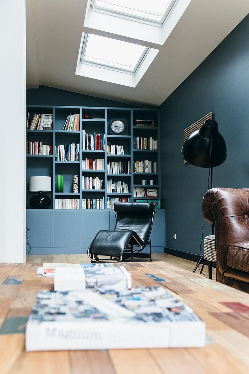 7 conseils pour am nager un mur en biblioth que le blog d co de l 39 atelier maison allaert. Black Bedroom Furniture Sets. Home Design Ideas