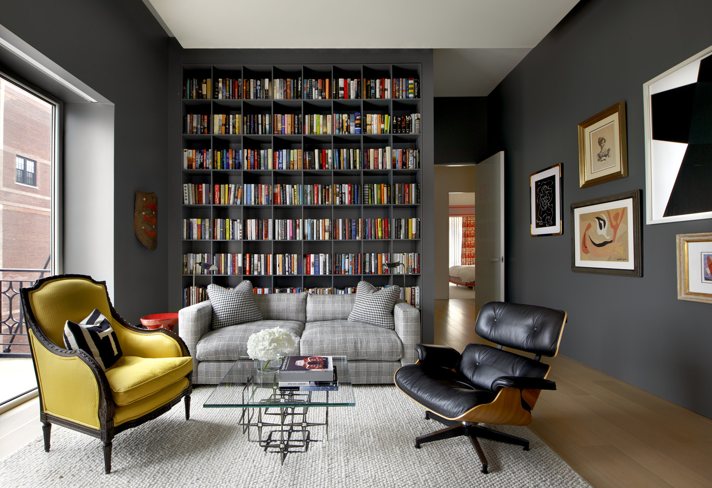 Am nager une biblioth que murale dans son salon quelle couleur choisir - Bibliotheque salon design ...