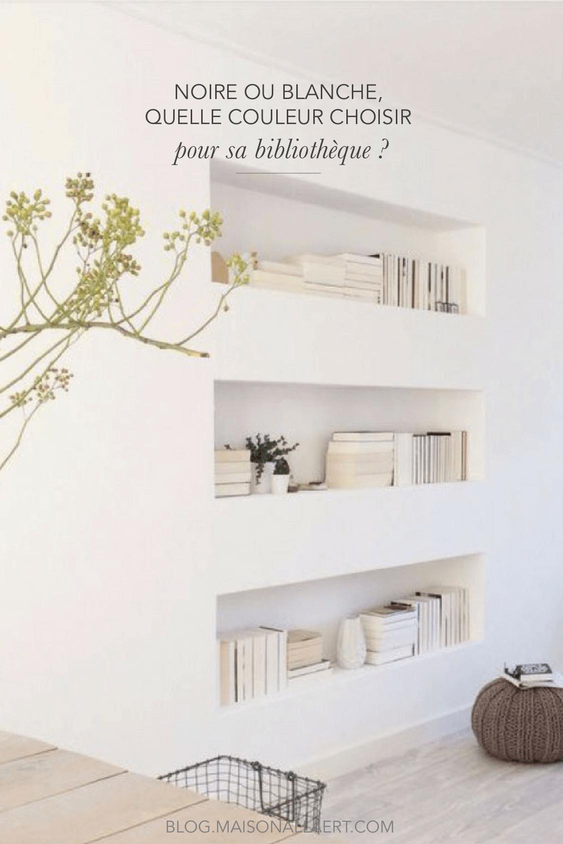 Aménager une bibliothèque murale dans son salon quelle couleur choisir