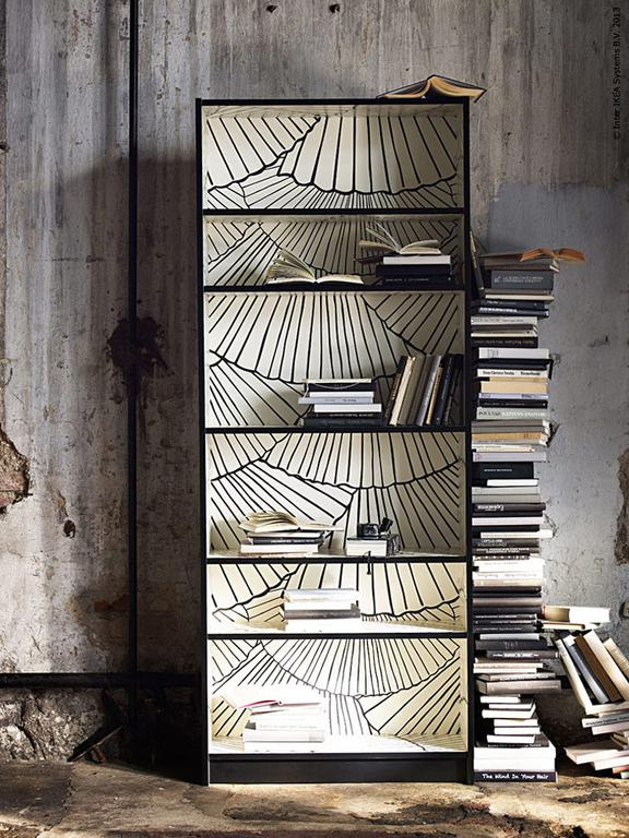 Idée DIY pour décorer une bibliothèque ikea