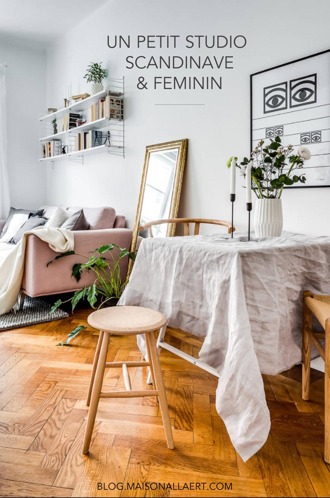 Un Studio De 25m2 à La Déco Scandinave, Simple Et Féminine