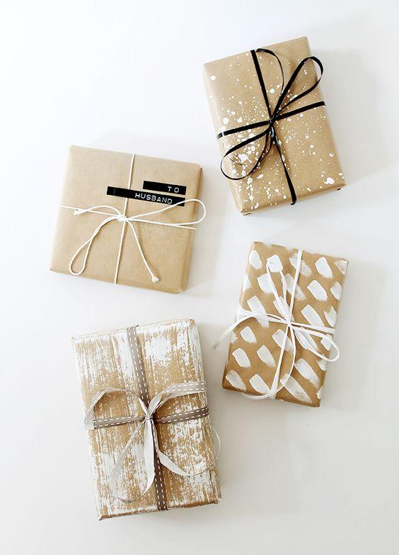Préférence 4 jolies idées pour réaliser un emballage cadeau en papier kraft  WK63