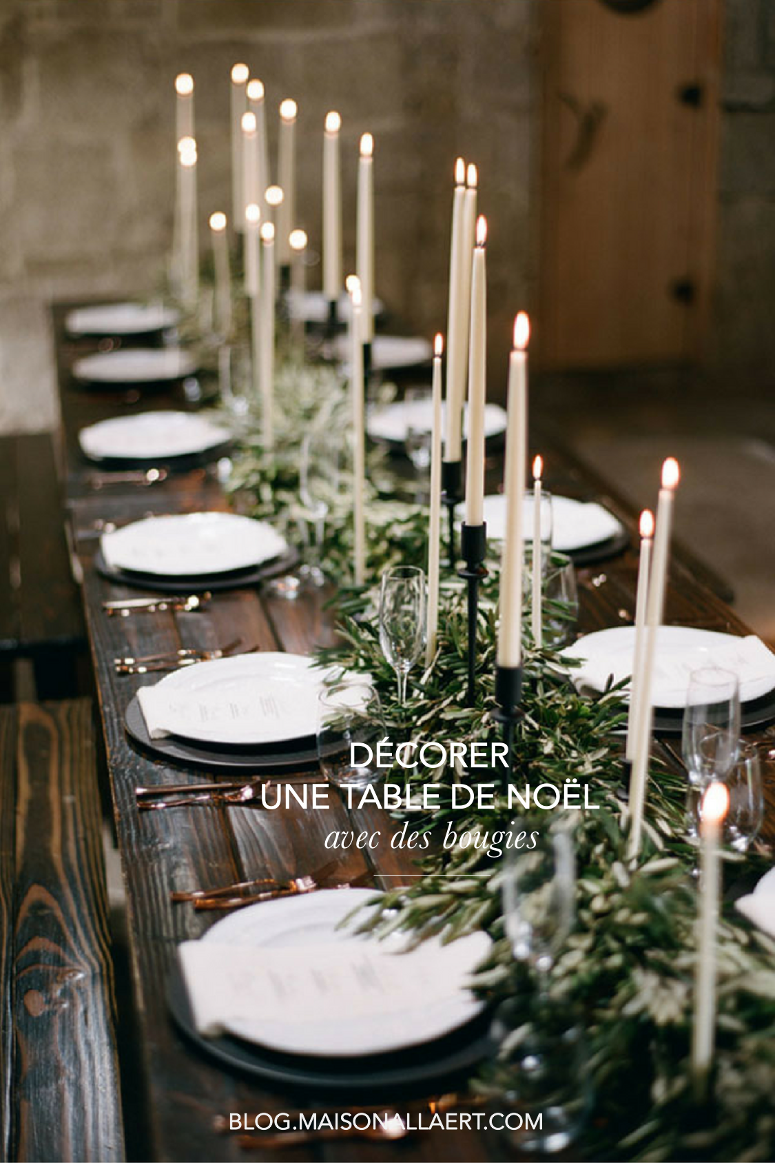 comment d corer une table de no l naturelle et originale avec des bougies le blog d co de l. Black Bedroom Furniture Sets. Home Design Ideas